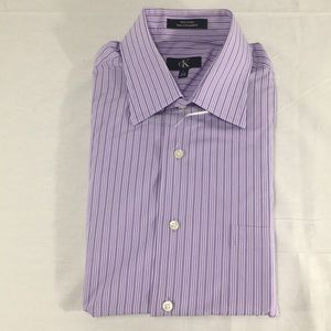 NWOT Calvin Klein Purple & White Dress Shirt